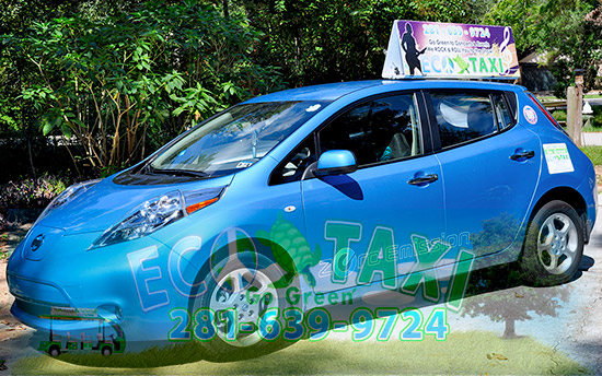 The Woodlands Eco Taxi Nissan Leaf