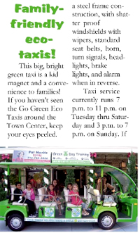 eco taxi in the news